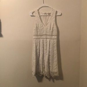 Gently used white lace dress